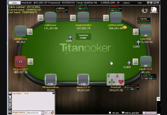 109$ MTT a Titánon - A döntő asztal