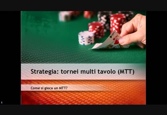 Come si gioca un MTT