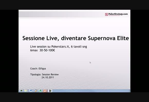 Sessione live - diventare Supernova Elite
