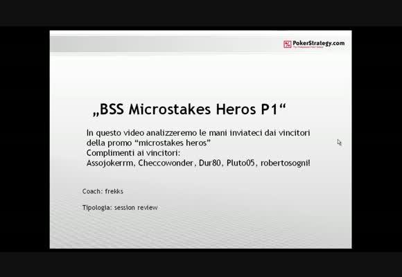Italian Microstakes Heroes 2 - Video finale - parte 1
