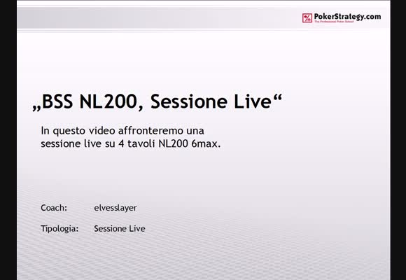 Sessione live al NL200 shorthanded