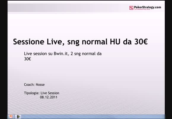 Sessione live - HU normal buy-in 30€