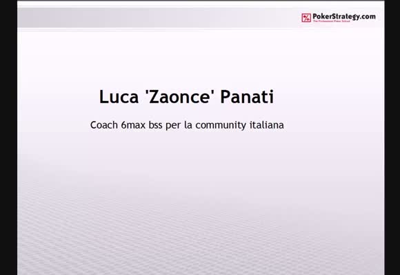 Zaonce dal vivo su PokerStars.it