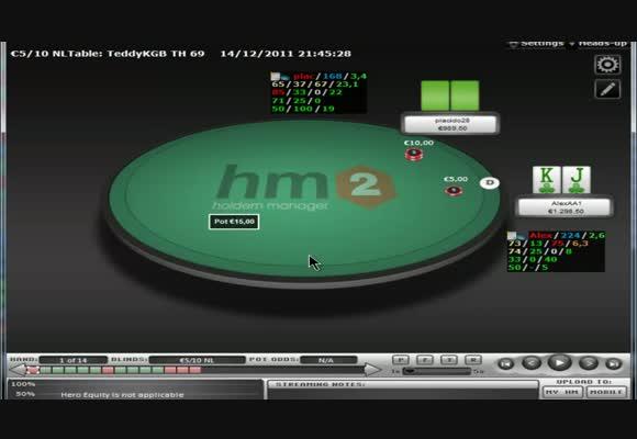 I piatti 3bettati al NL1k HU cash - parte 1