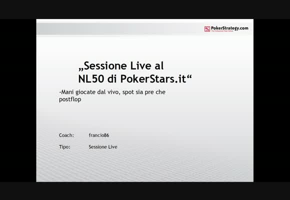 Sessione live - NL 50