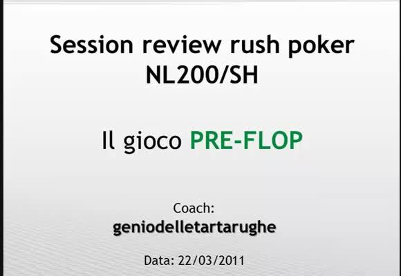 NL200 SH - Il gioco preflop avanzato