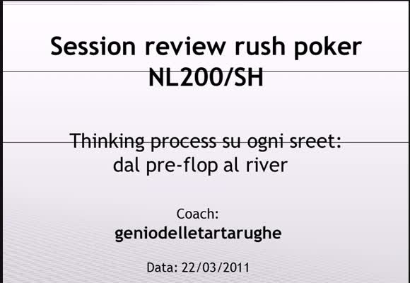 Session review NL200 Rush Poker - Mani miste