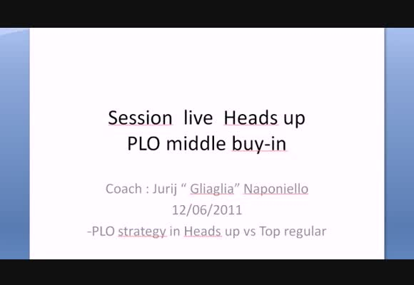 Sessione live - HU PLO middle buy-in