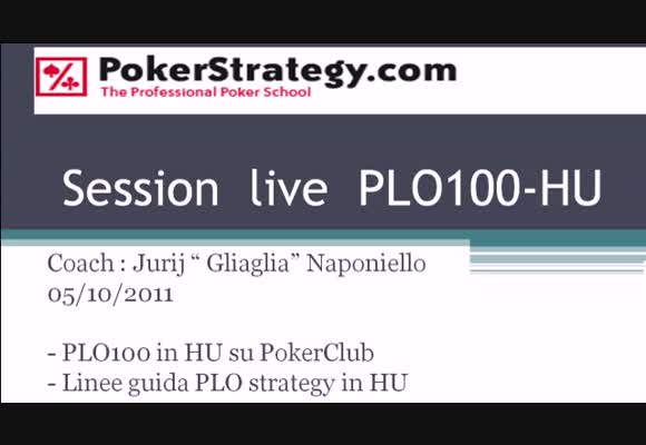 Sessione live - PLO100 HU