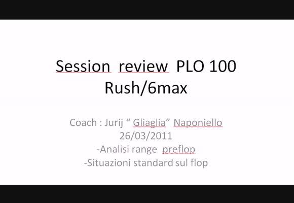 SR PLO100: la scelta delle mani di partenza