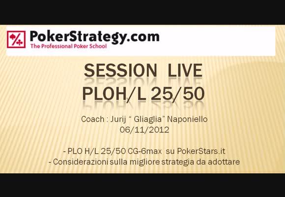 Live session - PLO50 H/L su PokerStars.it