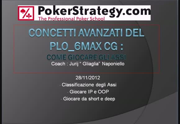Session review PLO - concetti avanzati - Come giocare gli assi
