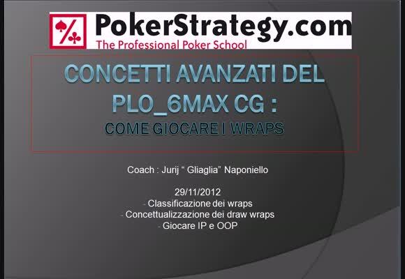 Session review PLO - concetti avanzati - Come giocare i wraps