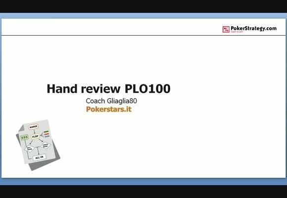Hand review al PLO100