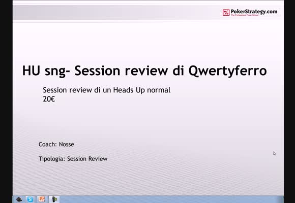 Session review dell'utente qwertyferro