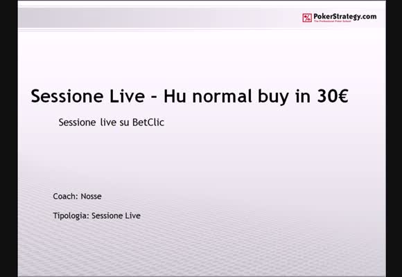 Sessione live - i 30 normal di BetClic.it