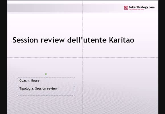 Session review con karitao