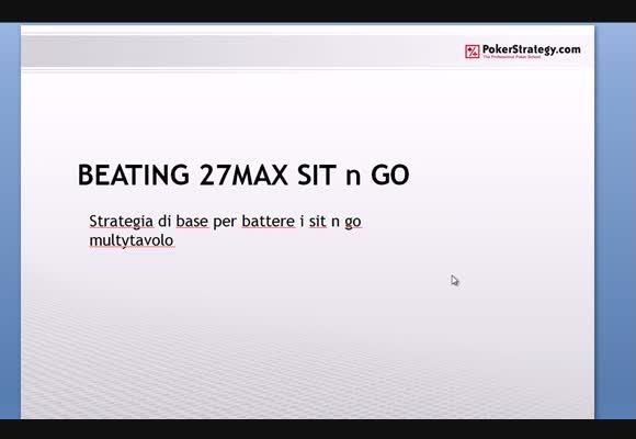 SnG 50€ 27max - Strategia di base