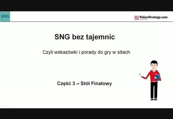 SNG bez tajemnic - stół finałowy