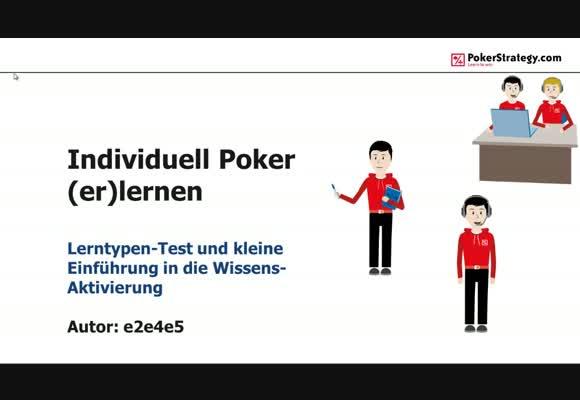 Individuell Poker (er)lernen