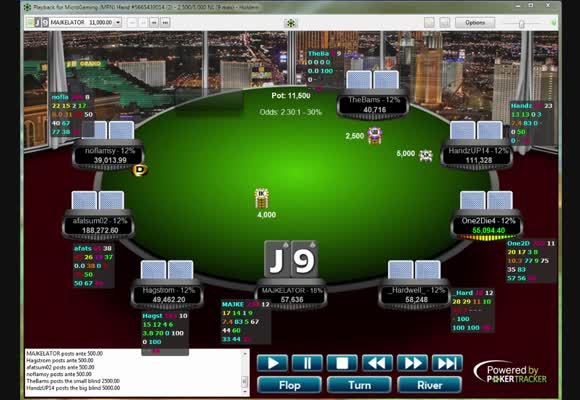 Wygrana turnieju 22 € Rebuy - semi i final table