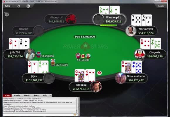 Stół finałowy Main Eventu MicroMillions za 22 $ (1)