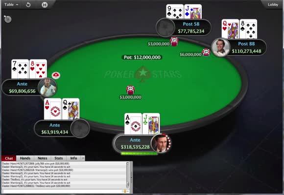 Stół finałowy Main Eventu MicroMillions za 22 $ (2)