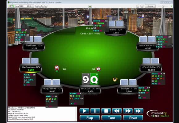 Wygrana turnieju 22 € Rebuy - droga do semi final table