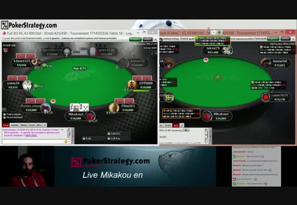 Session MTT sur PokerStars.fr