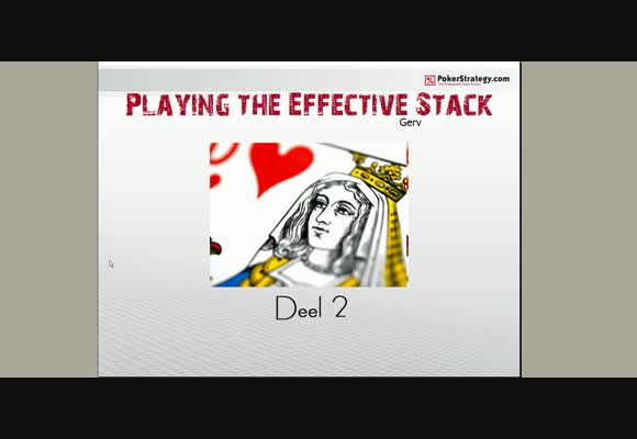 SSS NL10 playing the effective stack -2-