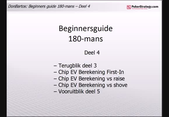 Donbartos 180 man Sit and Go's - deel 4