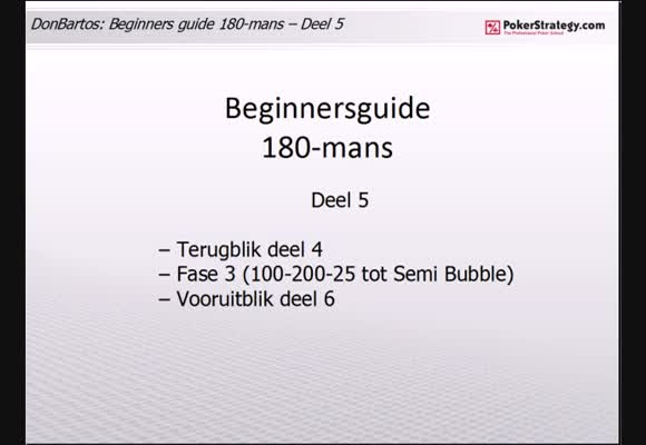 Donbartos 180 man Sit and Go's - deel 5