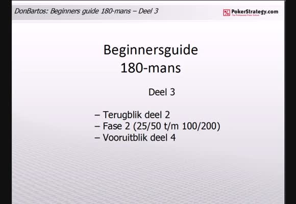 Donbartos 180 man Sit and Go's - deel 3