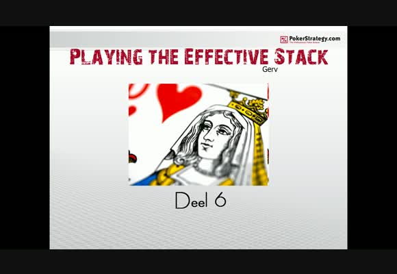 SSS NL200 playing the effective stack -6-