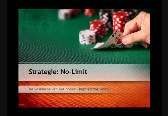 Strategie video : de wiskunde van het poker