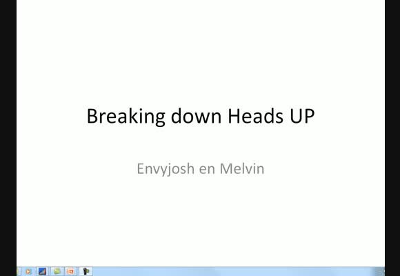Breaking Down Heads-Up - Deel 4
