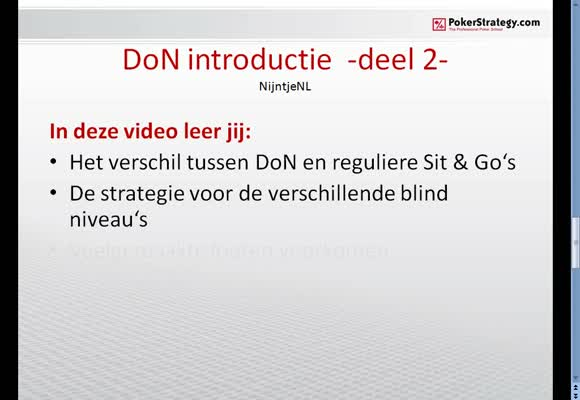 Sit and Go Double or Nothing introductie -deel 2-