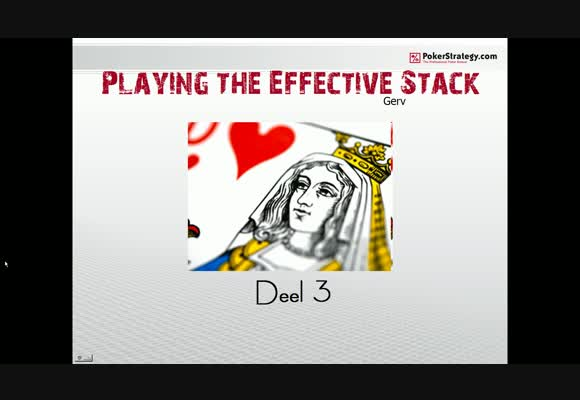 SSS NL25 playing the effective stack -3 -
