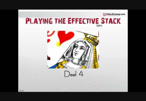 SSS NL50 playing the effective stack -4 -