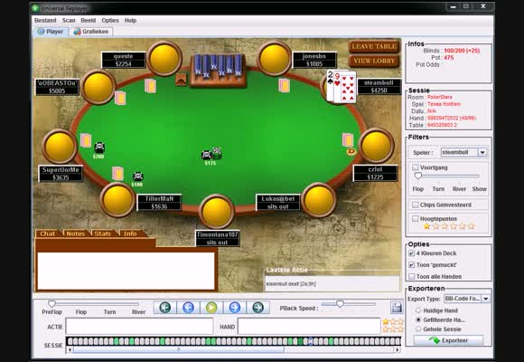 Final table 18 mans