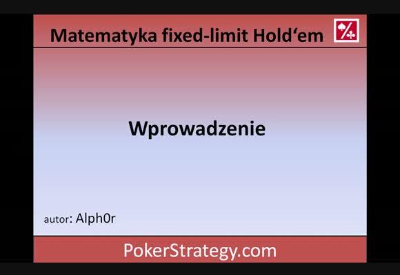 Matematyka w fixed-limit Hold'em