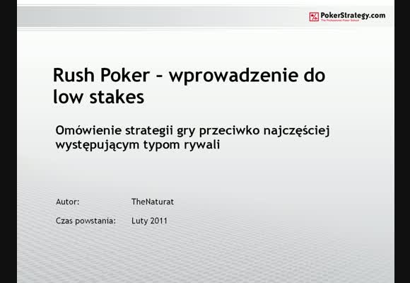 TheNaturat vs Rush Poker - część 3