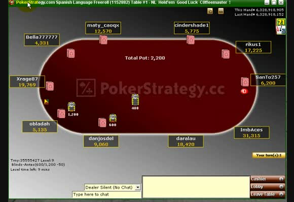 PP Freeroll Spanish - Final Table