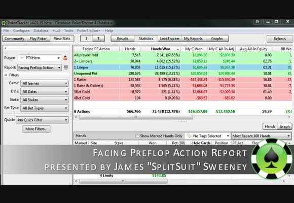 Guide to Pokertracker 4: Facing Preflop Action Report