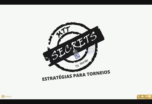 MTT Secrets (2) - Estratégias para Torneios
