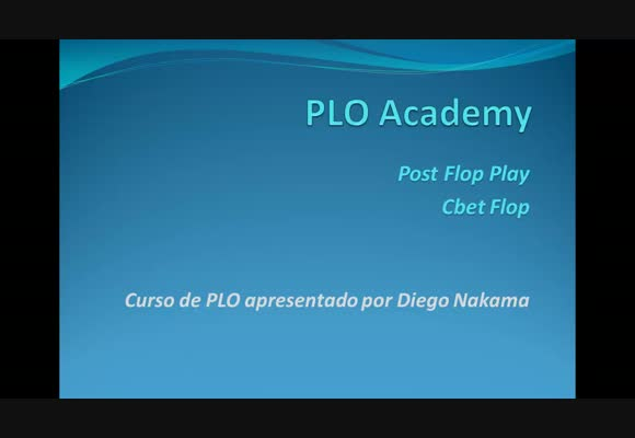 Academia PLO - Continuation Bet Flop