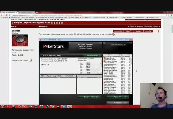 Competição de vídeos: LeoJose - MTT Turbo $16.50