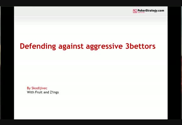 Defending against aggressive 3-bettors