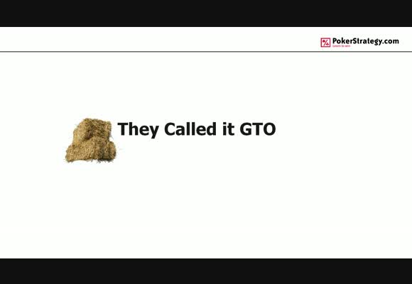 They Called It GTO - Misconceptions with Flop Play