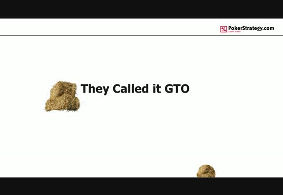 They called it GTO - river play and putting theory to practice